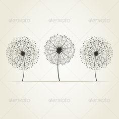 GraphicRiver Three Dandelions 3690600