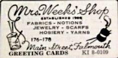 Mrs Weeks 1958 ad.