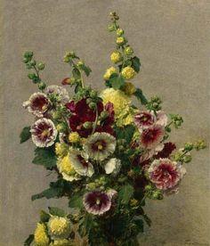 Henri Fantin-Latour  Roses Tremieres  1895