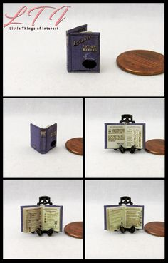 MINIATURE HARRY POTTER BOOKS SET OF 8 WITH STORAGE BOX 1:6 SCALE FOR DOLLHOUSE