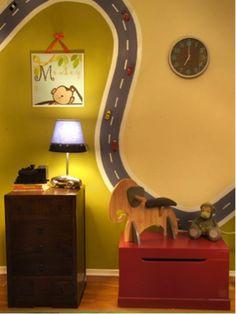 paint a racetrack with magnetic paint. genius!