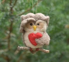 Hey, I found this really awesome Etsy listing at https://www.etsy.com/listing/77461664/needle-felted-owl-ornament-searching