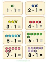 comparison math flash cards for children compare with pictures compare two numbers use. Black Bedroom Furniture Sets. Home Design Ideas