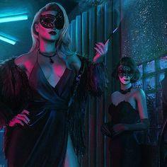 """Chromatic Horizon"": The Superb Neon-Noire Art By Tony Skeor – Cyberpunk Gallery Cyberpunk 2077, Cyberpunk Girl, Arte Cyberpunk, Chica Fantasy, Fantasy Art, Character Inspiration, Character Art, Neon Girl, Vampire Masquerade"