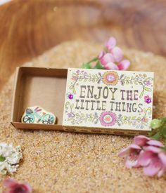 Little Things Matchbox Card