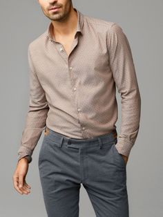 View all - Casual shirts - MEN - Massimo Dutti Casual Chic Outfits, Formal Men Outfit, Casual Wear For Men, Formal Shirts For Men, Casual Shirts, Mode Outfits, Fashion Outfits, Punk Fashion, Lolita Fashion