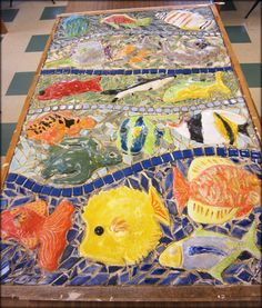 Mosaic Mural Created By School Children - I'm imagining what my children are capable of creating.