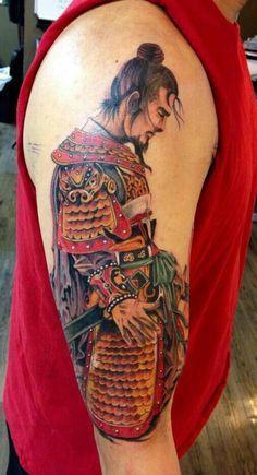 tatuagem de Samurai 3 Mais