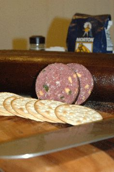 Jalapeño-Cheese Venison Summer Sausage Recipe - Recipes - GRIT Magazine This Jalapeño-Cheese Venison Summer Sausage Recipe will make you thankful you learned the art of home meat curing and sausage making. Venison Sausage Recipes, Jerky Recipes, Venison Summer Sausage Recipe Smoked, Venison Salami Recipe, Venison Snack Stick Recipe, Homemade Summer Sausage, Summer Sausage Recipes, Deer Recipes, Wild Game Recipes