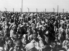 Birkenau, Poland, Women inside the women's camp.