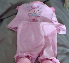 American Girl Pajama Outfit Sweet Pink with Slippers | eBay