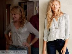 Switched at Birth: Season 4 Episode 2 Kathryn's Grey Sequin Blouse