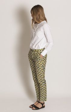 Chloe Stora Priscille Jaune Trouser - Trousers French Chic 2ab7e092bf0