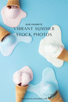 Fun, bright Branding Your Business, Creative Business, Stock Imagery, Aqua Blue Color, Blog Images, Build Your Brand, Photography Branding, Icecream, Summer Vibes