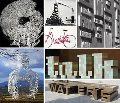 But a growing number of artists and designers are bringing typography off of the paper and into the real world. These incredible works of physical typography span fine art, furniture design, public art and even home décor, bringing the intangible nature of languages into a touchable three-dimensional world.