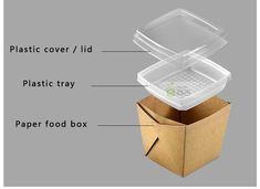 Disposable takeout plastic handle food paper container with dish tray - Buy Disposable Food Container, food paper container, paper container Product on Food Packaging - Shanghai SUNKEA Packaging Co. Takeaway Packaging, Salad Packaging, Innovative Packaging, Food Packaging Design, Paper Packaging, Packaging Design Inspiration, Coffee Packaging, Bottle Packaging, Comida Delivery