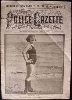 """The National Police Gazette"" Men's Magazine. 1920"