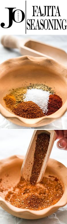 This DIY Fajita Seasoning is incredibly simple, ready in no time and made from basic pantry ingredients that you can pronounce. Perfect for fajitas, tacos, soups and sauces!
