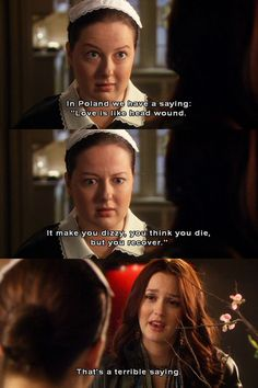"It's About Damn Time We Recognized Dorota As The Best Part Of ""Gossip Girl""! I mean how could we not have noticed this before! Gossip Girls, Gossip Girl Memes, Mode Gossip Girl, Estilo Gossip Girl, Gossip Girl Funny, Tv Show Quotes, Movie Quotes, Blair Quotes, Quotes Quotes"
