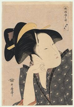 Utamaro (1750 - 1806) Japanese Woodblock Reprint