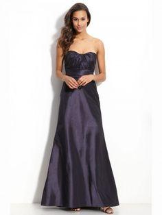 (NO.020434 )Sheath / Column Sweetheart  Ruffles  Sleeveless Floor-length Taffeta Bridesmaid Dress / Prom Dress / Evening Dress