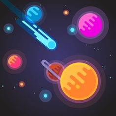 Buy Comet Flying Through Deep Space Galaxy by IconicBestiary on GraphicRiver. Comet flying through deep space galaxy. Space Illustration, Flat Design Illustration, Solar System Poster, Web Design Mobile, Design Responsive, Minimal Wallpaper, Character Design Animation, Motion Design, Galaxy