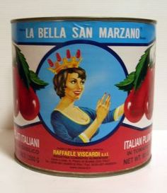Canned tomatoes with Italian labels might work into the tablescape.