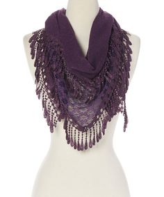 modern centers trade Purple Lace Scarf | zulily