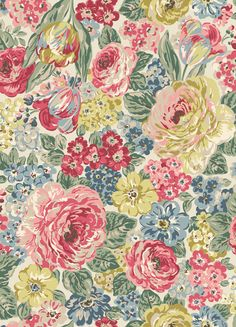 Orchard Bloom | A large, full bloom multi floral in soft dusky shades inspired by an antique design | Cath Kidston AW16 |