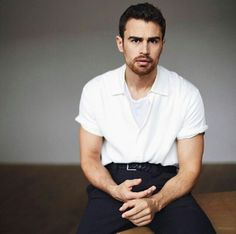 NEW photo of Theo James photoshoot for ES Magazine March 2017 Issue