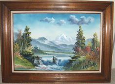 Original Bill Alexander Painting signed to Bob Ross