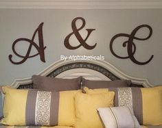 Wooden Letters Wall Letters Wooden Initials His and Hers Wooden ...