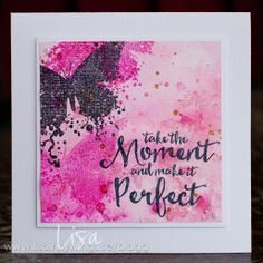 Gorgeous cards and projects featuring our sentiment stamps. Image Stamp, Butterfly Cards, Card Making Inspiration, Distress Ink, Cardmaking, Projects To Try, Paper Crafts, Butterflies, Lisa