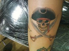 pirate tattoo skull and cross swords