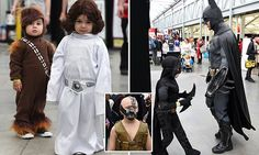 Australian comic convention see tiny Chewbacca and Princess Leia steal the show | Daily Mail Online