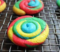 Gf Rainbow Swirl Cookies