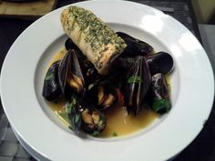 Mussel Soup with Garlic Baguette cooked by Jaro Korbaš
