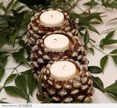 17 Easy DIY Holiday Candle Holders – 37 super easy diy christmas crafts ideas for best and easy rangoli designs for diwali festival part coconut candle holders Thanksgiving Crafts, Christmas Projects, Fall Crafts, Holiday Crafts, Christmas Crafts, Thanksgiving Table, Diy Crafts, Christmas Christmas, Holiday Fun