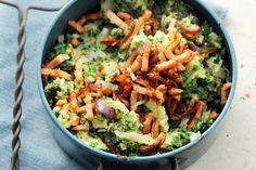 Lekker gezond: stamppot met extra veel groenten en net even wat minder vlees per persoon - Recept - Allerhande