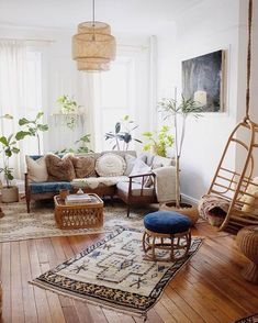 19 Boho Living Room Ideas is part of Room Decor Boho White - If you're really looking to make a statement, bring bohemian style into the heart of your home the living room Bohemian Living Rooms, Living Room Modern, Interior Design Living Room, Living Room Designs, Living Room Ideas Studio, Small Living, Bohemian Bedrooms, Bohemian Interior Design, Boho Lounge