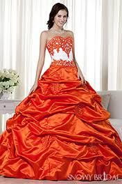 Wedding halloween dress bitemecullen107 photo i dont normally burnt orange wedding dress google search junglespirit Images