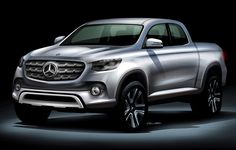 The official pick-up truck rendering by Mercedes-Benz