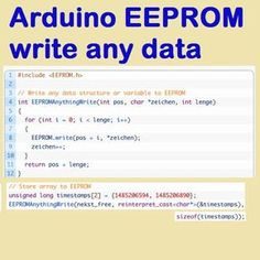 Beliebige Typ der Daten in EEPROM speichern