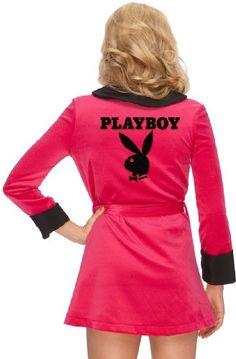 Amazon.com: Women's Playboy Girlfriend Robe, Pink: Clothing