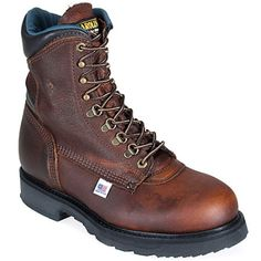 Carolina Boots Men's Grizzly Steel Toe EH 1809 USA-Made Work Boots