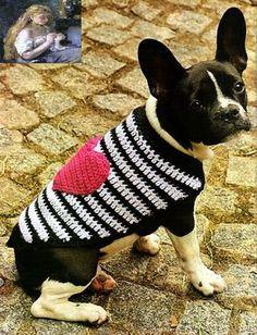 tejidos artesanales en crochet: capa chic con aplique para nuestra mascota