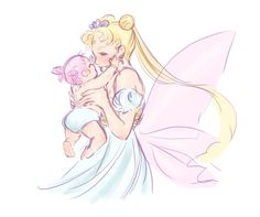 Neo Queen Serenity and princess Usa