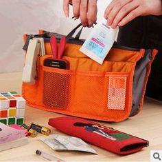 Free shipping 100pcs/lot Make up organizer bag Women Men Casual travel bag multi functional Cosmetic Bag Handbag 13 Color #Affiliate