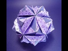 KUSUDAMA AMETISTA - YouTube  Step by step tutorial how to make cute paper ball