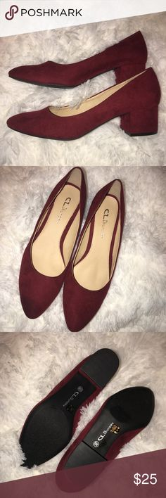 Chinese Laundry Size 10 Chunky Burgundy Heals Chinese Laundry Size 10 Chunky Burgundy Heals. Excellent condition, worn once or twice. Heals aprox 3 inches. Chinese Laundry Shoes Heels